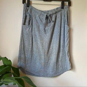 Sonoma Life+Style Gray Jersey Knit Skirt